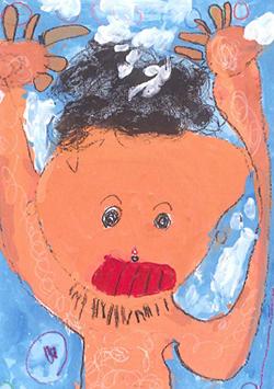 FDC会頭賞「パパのシャンプーはすごいんだよ!」小林 友樹(5)茨城県