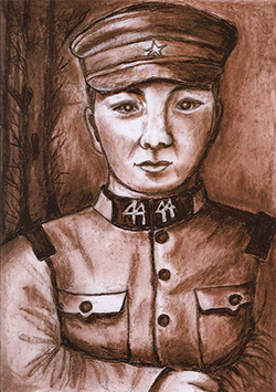 銀賞「懐かしい父」澤田 智恵(76)高知県