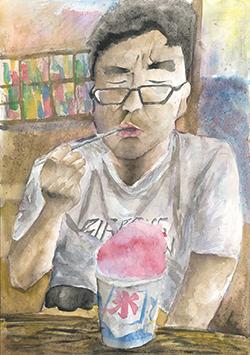銀賞「お父さん、一口ちょうだい」鈴木 友梨(12)愛知県