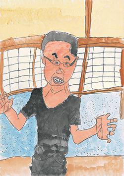 銅賞「またさぼりよるとか!宿題しろー!」槌野 びわ(7)佐賀県
