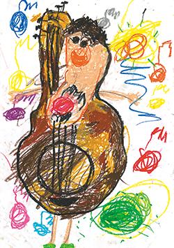 佳作「お父ちゃんがギターになってしもた!」上村 龍ノ介(4)奈良県