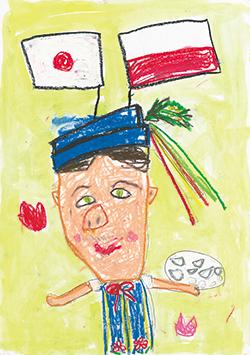 銀賞「にっぽんだいすきポーランド人おとうさん」宍戸 てれさ(5)神奈川県